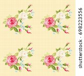 seamless floral pattern with...   Shutterstock .eps vector #698223556