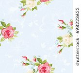 seamless floral pattern with...   Shutterstock .eps vector #698223622