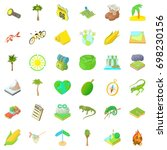 nature rest icons set. cartoon... | Shutterstock .eps vector #698230156