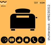 toaster oven icon | Shutterstock .eps vector #698230312