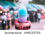 colorful cotton candy in the... | Shutterstock . vector #698233705