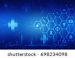 2d medical structure background | Shutterstock . vector #698234098