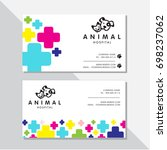business card vector design and ...   Shutterstock .eps vector #698237062