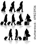 Vector Drawing Travelers With...