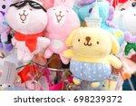 souvenir plush dolls. adorable...   Shutterstock . vector #698239372