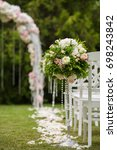 wedding ceremony placed in the... | Shutterstock . vector #698243842