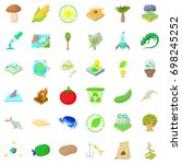 biology in nature icons set.... | Shutterstock .eps vector #698245252