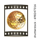 3d rendering of a golfball in...   Shutterstock . vector #698247316