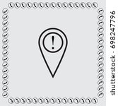 map pointer with exclamation... | Shutterstock .eps vector #698247796