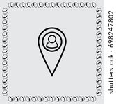 map pointer with man sign... | Shutterstock .eps vector #698247802