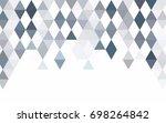 light blue vector low poly...   Shutterstock .eps vector #698264842