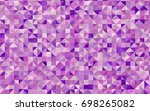 light purple vector abstract...   Shutterstock .eps vector #698265082