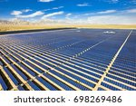 solar photovoltaic aerial view | Shutterstock . vector #698269486