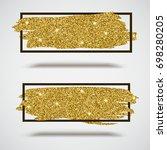 gold sparkles  glitter... | Shutterstock . vector #698280205