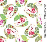 seamless pattern  with flower... | Shutterstock .eps vector #698284792