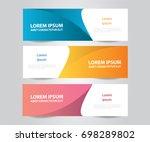 set of modern colorful banner... | Shutterstock .eps vector #698289802