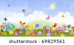 flower meadow panorama
