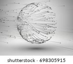sphere with connected lines and ... | Shutterstock .eps vector #698305915