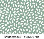 leaves pattern. endless... | Shutterstock .eps vector #698306785
