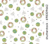 seamless nature pattern with... | Shutterstock .eps vector #698309662