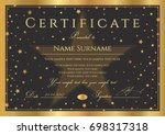 certificate  diploma of...   Shutterstock .eps vector #698317318