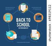 educational learning... | Shutterstock .eps vector #698319112