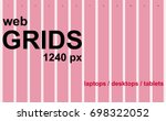 the web grid system 1240 px for ... | Shutterstock .eps vector #698322052