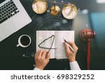 justice and law concept.top... | Shutterstock . vector #698329252