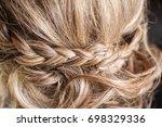 hairdressing salon that blends... | Shutterstock . vector #698329336