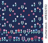 simple floral seamless pattern... | Shutterstock .eps vector #698332552