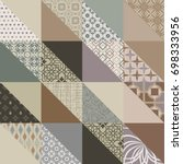 seamless ceramic tile with...   Shutterstock .eps vector #698333956