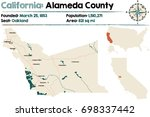 large and detailed map of... | Shutterstock .eps vector #698337442