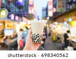bubble tea the traditional... | Shutterstock . vector #698340562