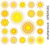 sun set | Shutterstock .eps vector #69834181