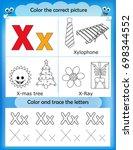 alphabet learning letters  ... | Shutterstock . vector #698344552