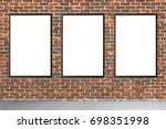 billboard and poster mock up... | Shutterstock . vector #698351998