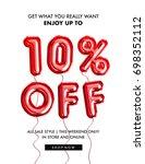 10 percent off discount... | Shutterstock . vector #698352112