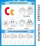 alphabet learning letters  ... | Shutterstock . vector #698354662