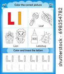 alphabet learning letters  ... | Shutterstock . vector #698354782
