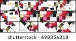 modern geometric presentation... | Shutterstock .eps vector #698356318