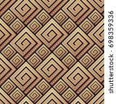 seamless pattern meander...   Shutterstock .eps vector #698359336