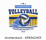 volleyball logo  emblem  icons  ... | Shutterstock .eps vector #698362405