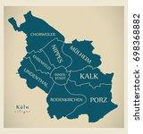 modern map   cologne city of... | Shutterstock .eps vector #698368882