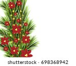 template for christmas holiday... | Shutterstock .eps vector #698368942
