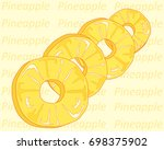 an illustration of a row of... | Shutterstock . vector #698375902