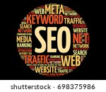 seo   search engine...   Shutterstock .eps vector #698375986