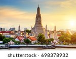 Wat Arun Temple at sunset in bangkok Thailand. Wat Arun is a Buddhist temple in Bangkok Yai district of Bangkok, Thailand, Wat Arun is among the best known of Thailand