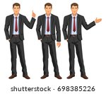 man in business suit with tie.... | Shutterstock . vector #698385226