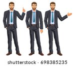man in business suit with tie.... | Shutterstock . vector #698385235