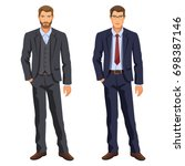 two men. man in business suit.... | Shutterstock . vector #698387146